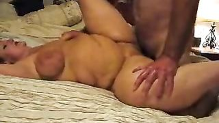 Ardent missionary sex with my breasty big beautiful woman cheating wife after a dinner