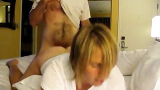 Bull Fucks a Clueless Cuckold's Slut Wife