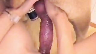 Cute mother I'd like to fuck takes a massive creampie from her dog