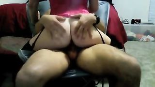 My sexy dirty slut wife jumps on my shaft whilst wearing hawt nylons