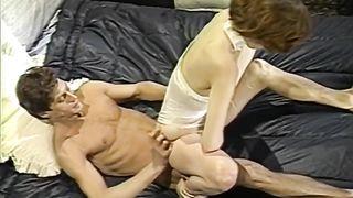 Slutty red head May in a hardcore sex scene