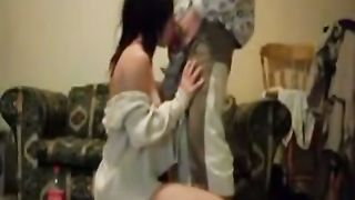 Comely dark brown horny white wife gives me head and takes dirty facial