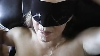 Blindfolded wife loves getting pounded from the back