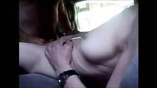 My concupiscent horny white wife receives her cum-hole group-fucked remarcably well by me
