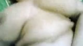 Slutty Arab big beautiful woman whore with wicked teeth kneads her bigguns whilst I fuck her mish