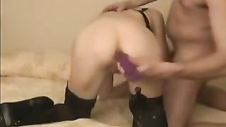 Horny and lustful doxy in hot boots receives screwed hard