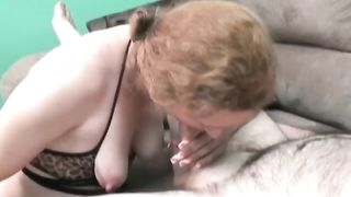 Blonde hotwife is happy to give a fellatio on camera