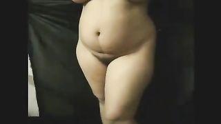 Tempting undress dance by my big beautiful woman preggy Indian slutty wife
