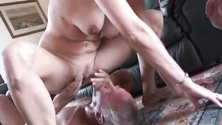 Muscled stud is enjoying a pleasant doggystyle nailing not his wife while the cuckold husband is standing beside and watching the fuck action. He would love to participate but the female wants him to watch.