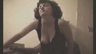 Mature brunette gets fucked by a black stud while her hubby enjoys watching them.......... Her Cuckold film