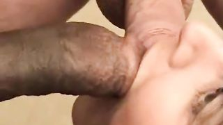 Sissy cuckold husband eats cuckold wife creampie! Her husband who makes these video