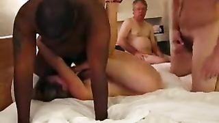 Cuckold husband shares wife eats cum! Husband share wife with her best friend
