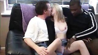 Kinky cuckold and his wife! Interracial Cuckold Porn