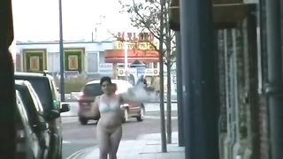 My sexually excited big beautiful woman wifey shows her bare body in public