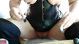 I love teat castigation and those nipp clamps are great for slavery play