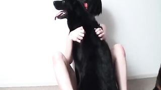 Sexy dark brown whore bows over and takes her hard dogs 10-Pounder unfathomable