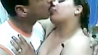 Foreplay with one hawt dark brown big beautiful woman Arabian prostitute