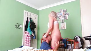 Slutty wife pussy licking treatment by the horny plumber