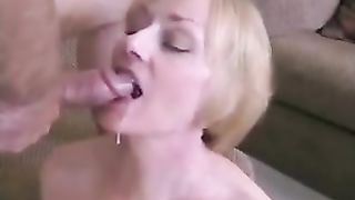 Who else has a milf golden-haired BBC slut who loves eating cum