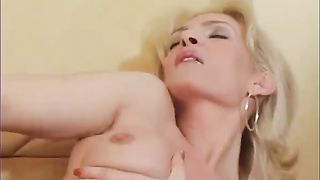 Filthy and slutt wife with admirable milk sacks masturbates