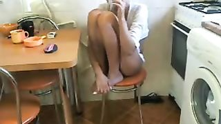 Beautiful slender golden-haired wifey from Romania on web camera