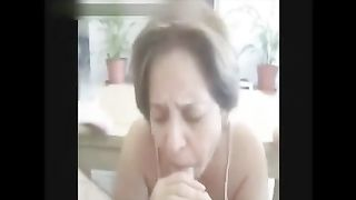 Old granny likes to engulf big jocks and drink some cock juice