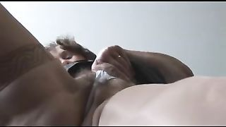 Sizzling hot non-professional brunette hair slutwife shows her milf arse