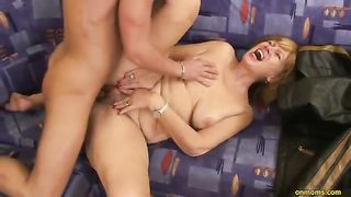 As this babe bows over that babe takes it unfathomable in her fanny and ass