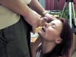 Face cumload mature Milf on takes wife