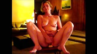 Splendid older horny white wife rides large marital-device and sucks me off