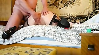 Nasty wild sex games with my aged white dirty slut wife