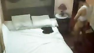 Hidden web camera movie scene of thick Arab hooker getting screwed in hotel