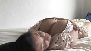 My super sexy slutwife and her large natural jugs