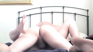 Me and my Married slut banging in missionary and cowgirl positions