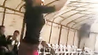 Sexy Arab legal age teenager sweetheart stomach dances in public on webcam