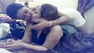 My Arab lesbo ally caresses and kisses me in homemade movie scene