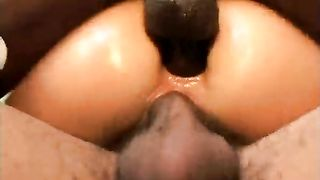 Two large shaved dark jerks gratifying sexy milf in her room