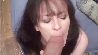 That naughty knob sucker can't live without engulfing my thick dick