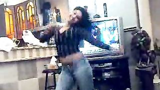 My hawt Arab ally dancing on the web camera in my bedroom