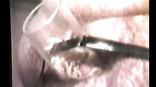 Man has maggots swirming inside glass pushed in his booty