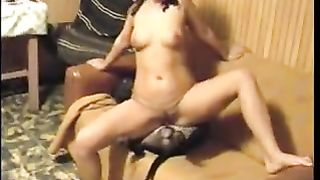 Horny brunette hair drilled by sleepy doggy
