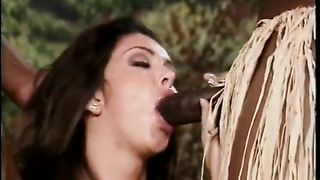 Well-stacked brunette hair honey acquires hammered by 2 ethnic dark fuckers