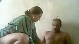 Best ally copulates one older bulky Arab prostitute at the slut abode