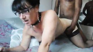 My slutty cheating slut wife fucking a hung nigga