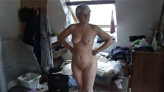 My dirty lutty wife Wanking in front of the mirror
