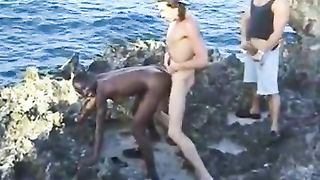 African Teen Fuck American Friends or African Young Babe Tries To Satisfy Her Two New American Friends
