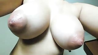Huge pointy tits! My Wife gets her big tits slapped