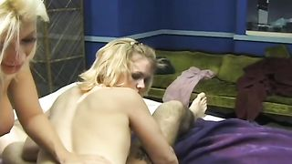 Two vicious mommies with hawt bodies happy by one stud