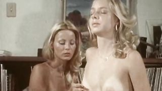 Lascivious blonde hotties fuck passionately in gripping retro porn episode. FFM