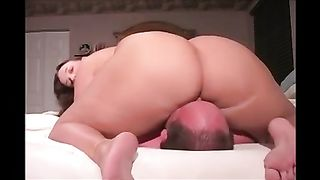 Cellulite booty monster white wife sitting on my face and I cant breathe